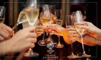 Champagne J De Telmont Depuis 1912 Glasses